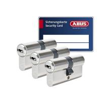 ABUS BRAVUS 3000 Zylinder mit Bohr- und Ziehschutz BZD (3x) - SKG***