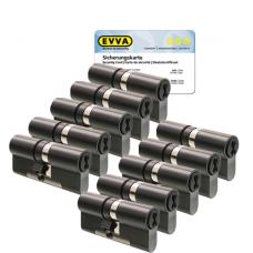 EVVA 4KS Zylinder patiniert schwarz mit Kernziehschutz (10x) - SKG***