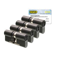 EVVA 4KS Zylinder patiniert schwarz mit Kernziehschutz (4x) - SKG***
