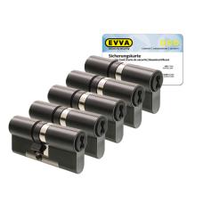 EVVA 4KS Zylinder patiniert schwarz mit Kernziehschutz (5x) - SKG***
