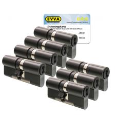 EVVA 4KS Zylinder patiniert schwarz mit Kernziehschutz (7x) - SKG***