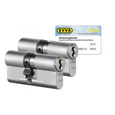 EVVA 4KS Zylinder Nickel (Standard) mit Kernziehschutz (2x) - SKG***