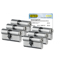 EVVA 4KS Zylinder Nickel (Standard) mit Kernziehschutz (6x) - SKG***