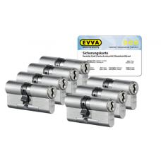 EVVA 4KS Zylinder Nickel (Standard) mit Kernziehschutz (7x) - SKG***