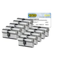 EVVA 4KS Zylinder Nickel (Standard) mit Kernziehschutz (10x) - SKG***