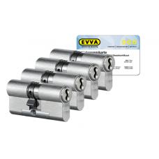 EVVA 4KS Zylinder nickel (Standard) mit Kernziehschutz (4x) - SKG***