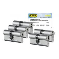 EVVA 4KS Zylinder Nickel (Standard) mit Kernziehschutz (5x) - SKG***