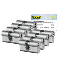 EVVA 4KS Zylinder Nickel (Standard) mit Kernziehschutz (8x) - SKG***