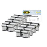 EVVA 4KS Zylinder Nickel (Standard) mit Kernziehschutz (9x) - SKG***