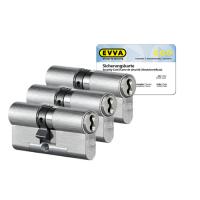 EVVA 4KS Zylinder Nickel (Standard) mit Kernziehschutz (3x) - SKG***