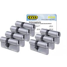 EVVA ICS Zylinder mit Kernziehschutz (7x) - SKG***